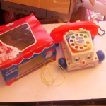 Fisher Price 747 Chatter Telephone from 1972 boxed